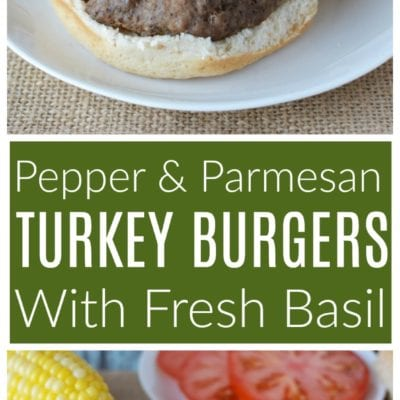 Garlic Pepper Parmesan Turkey Burgers With Fresh Basil