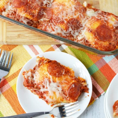 Easy 10 Minute Kid-Friendly Pizza Bake