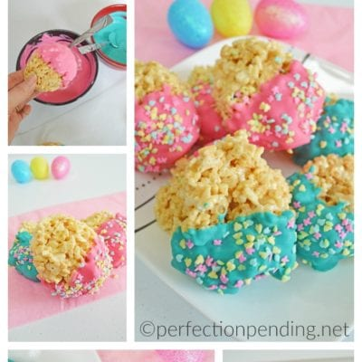 Super Easy Easter Egg Rice Krispie Treats