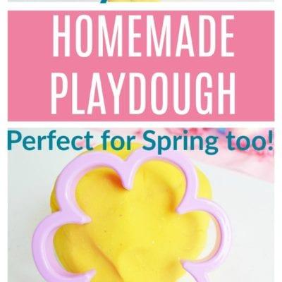 Yellow Homemade Playdough Recipe – Perfect For Easter