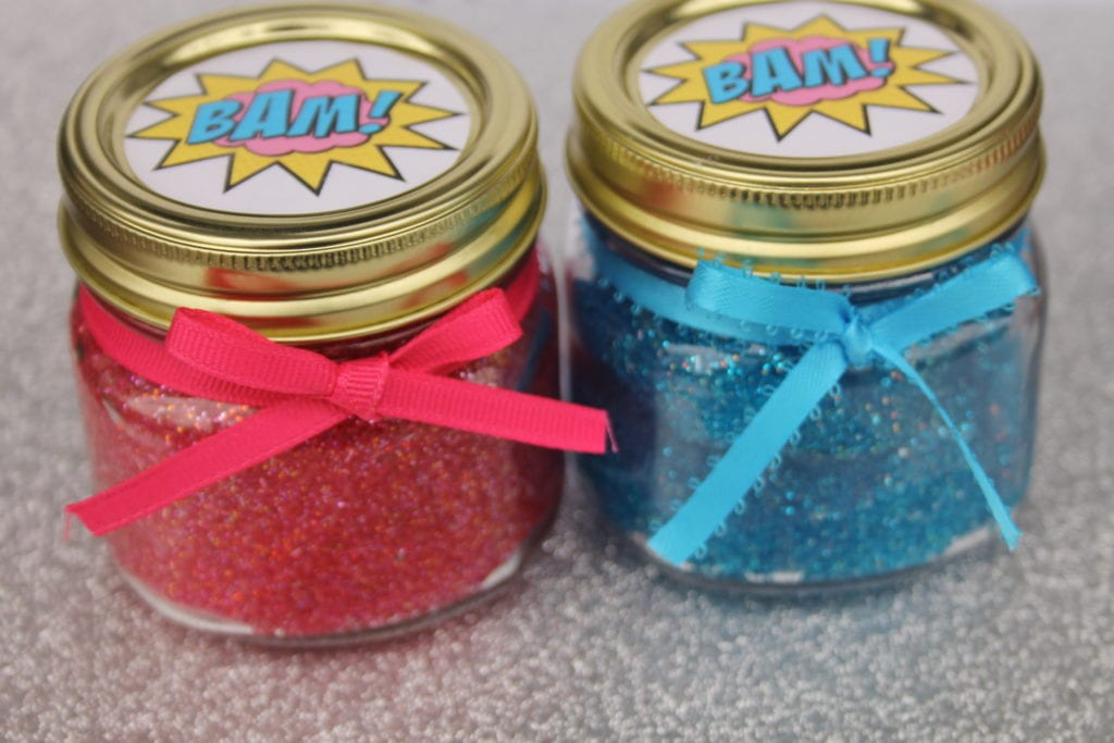 Easy Super Hero Glitter Slime With Free Printable - Perfection Pending