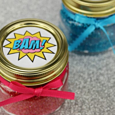 Easy Super Hero Glitter Slime With Free Printable