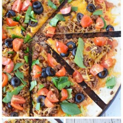 Best Ever Easy Taco Pizza Recipe