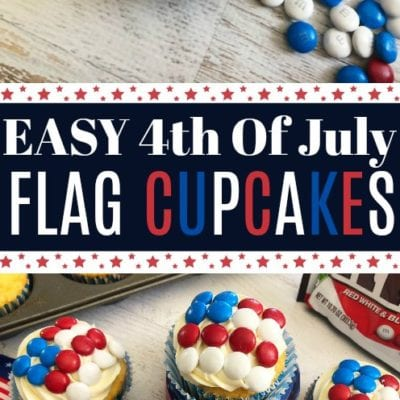 Easy 4th Of July Flag Cupcakes
