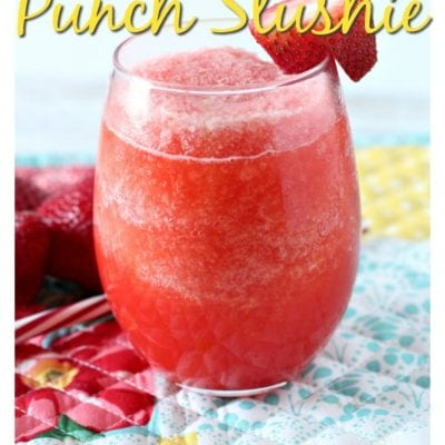 Easy Strawberry Punch Frozen Slushie