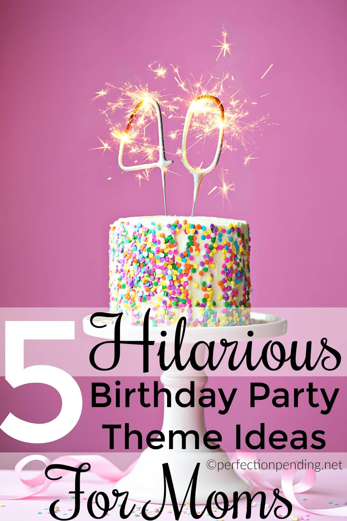 Every mom wants a theme for her birthday party just like our elaborate themed birthday party ideas we come up for our kids. This funny list of themed birthday party ideas for moms will make you want to throw a birthday party for yourself. Even if it is just taking a nap. #birthdayparties #partyideas #birthday #momlife #motherhood #parenting #humor #funnyparenting
