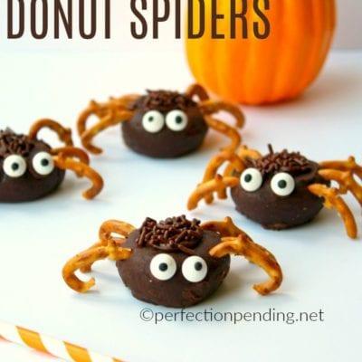 Mini Chocolate Donut Spiders