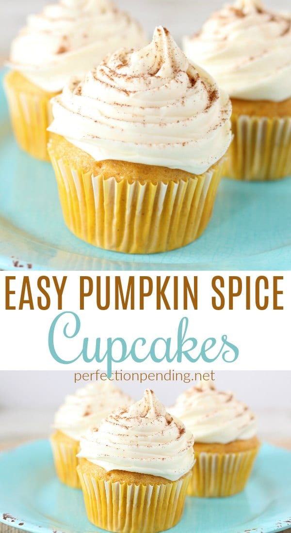 Super Easy Pumpkin Spice Cupcakes – These Light And Moist Pumpkin Cupcakes are easy to make and full of yummy pumpkin flavors that you'll love. If you're looking for the perfect fall dessert, these easy pumpkin spice cupcakes are the BEST. #fallrecipes #pumpkincupcakes #pumpkin #pumpkinspice #pumpkinrecipe #pumpkindesserts #pumpkindessertrecipe #pumpkincupcake #falldesserts