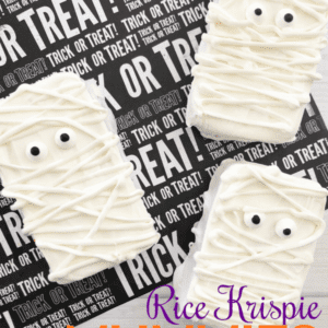 Easy Rice Krispie Treat Mummies For Halloween