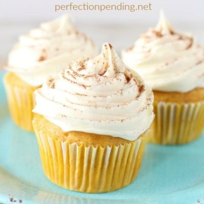 Super Easy Pumpkin Spice Cupcakes
