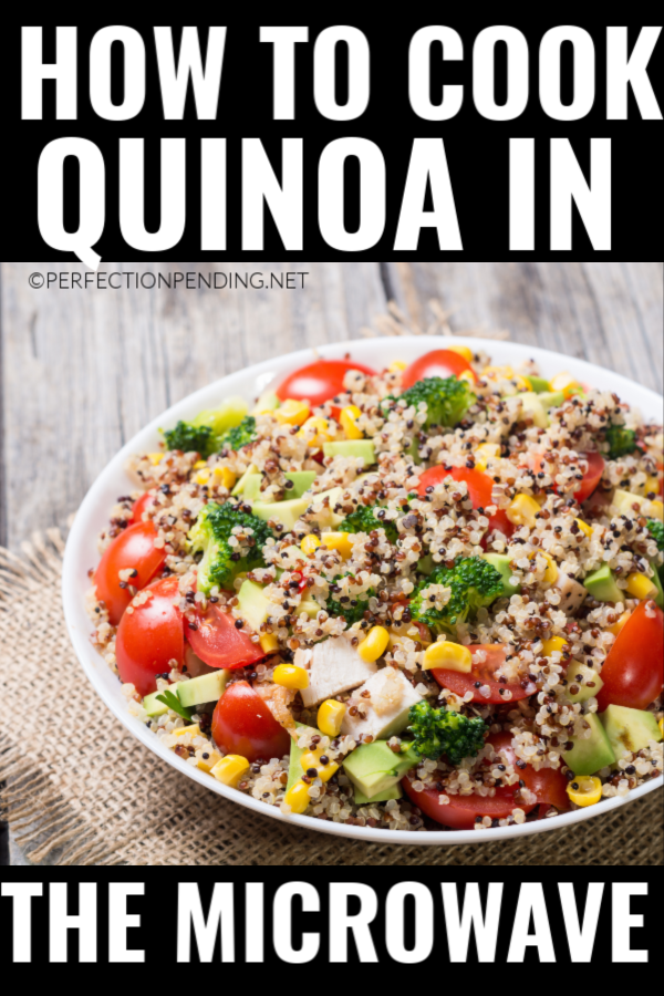 Did you know you can actually cook quinoa in the microwave? If you want to make delicious quinoa salads or quinoa dishes or just make quinoa instead of rice, you should learn the best way to cook quinoa in the microwave. You can thank me later. #easyquinoa #quinoa #microwavequinoa