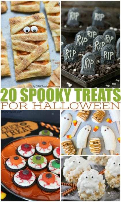 If you're ready to plan the best Halloween party on the block, then you have to think about what kind of Halloween food you want to serve. Halloween party treats are a must have at any Halloween party, classroom treat, or just for fun with your kids at home. Halloween desserts are especially sweet and spooky and are sure to surprise your guests. #Halloween #halloweenfood #halloweenpartytreats #halloweentreats #spookytreats #halloweenideas #halloweenpartyideas