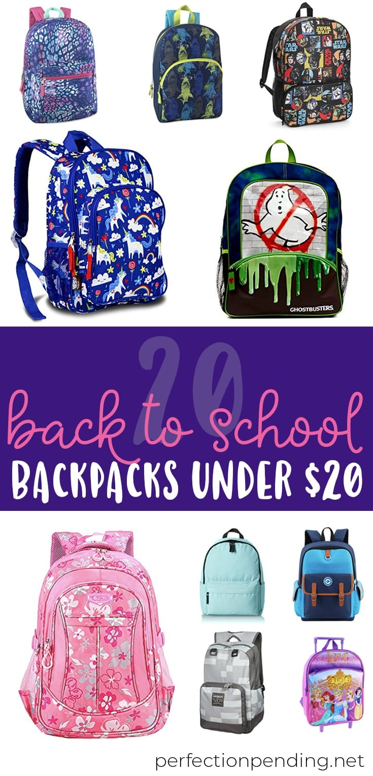 These back to school backpacks are the perfect backpacks on a budget! With back to school season upon us, these are PERFECT for all you procrastinators out there ;) The best part? They're great for those on a budget since they're all backpacks under $20! Just scroll down below to find your favorite back to school backpacks!