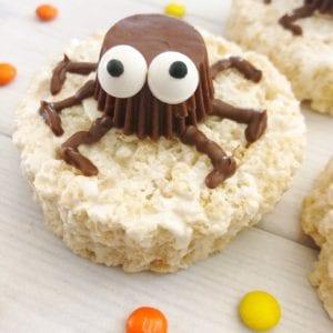 Easy Halloween Spider Rice Krispie Treats