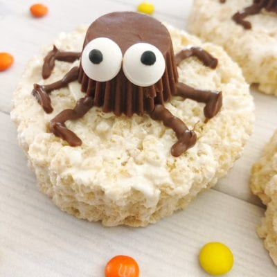 easy halloween spider rice krispie treats