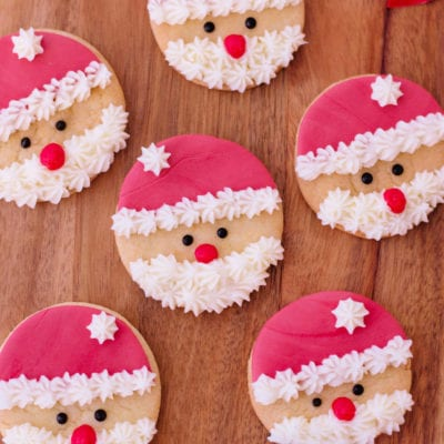 Super Easy Santa Sugar Cookies