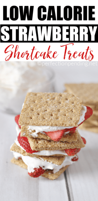 If you're looking for a healthy low calorie Strawberry Shortcake Treats this easy dessert idea that is also low fat will satisfy your sweet tooth craving for strawberries and cream so you don't mess up your diet. #strawberries #dessertideas #lowcaloriedessertideas #lowfatdesserts #strawberryshortcake #sweet #dietdesserts #sweettooth