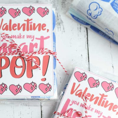 Valentine Popcorn Printable – You Make My Heart Pop