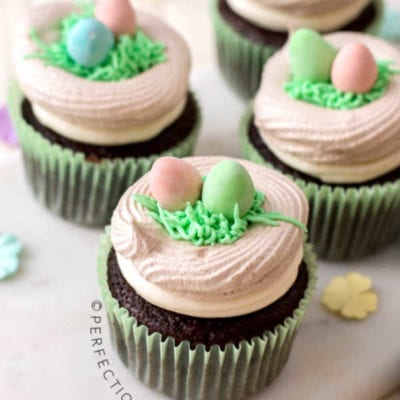 Meringue Bird's Nest Cupcakes For Spring Or Easter