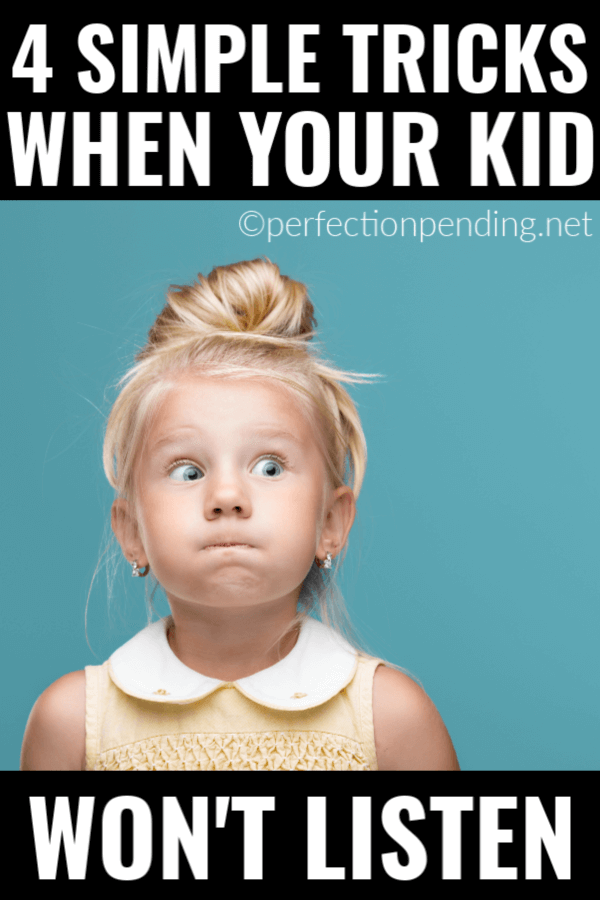 There is nothing more frustrating as a parent than when your kid won't listen. These parenting strategies are so easy to start today, and will help with your child's listening skills. These easy positive parenting solutions really are simple but so smart! #positiveparenting #noyelling #perfectionpending